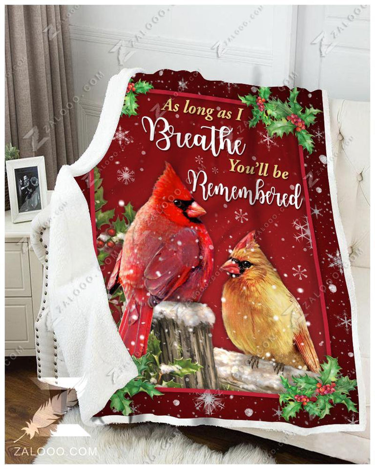 Blanket - Cardinal - You'll Be Remembered