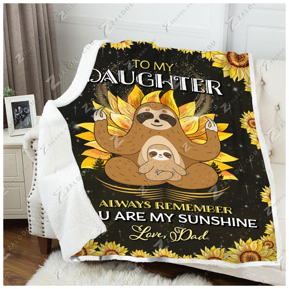 Blanket - Sloth - To My Daughter - Love Dad