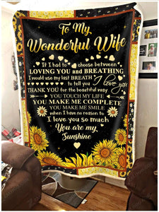 Blanket -  To My Wonderful Wife - My Heart