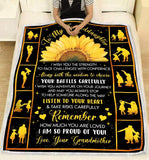 Blanket To my granddaughter I'm so proud of you - Zalooo.com Custom Wall Art Canvas