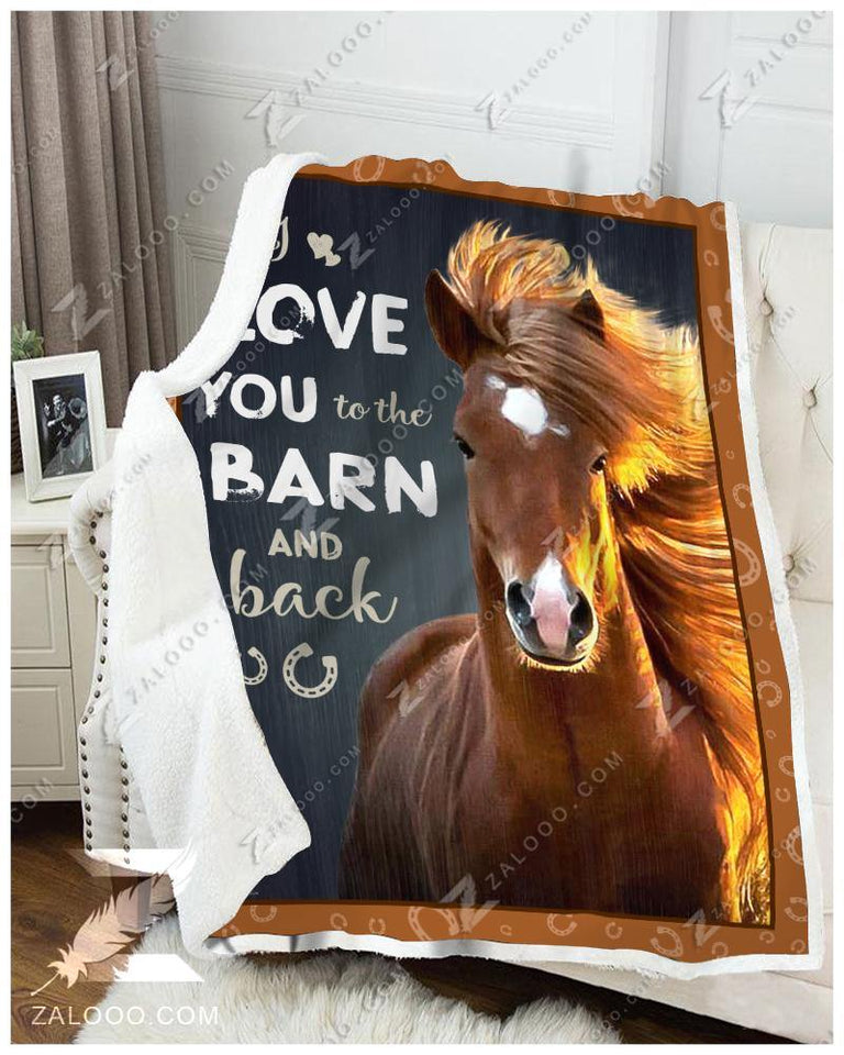Blanket - Horse - I Love You To The Barn & Back