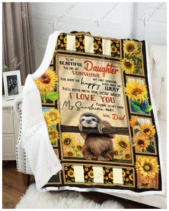 Blanket - Sloth - You Are My Sunshine - Love Dad