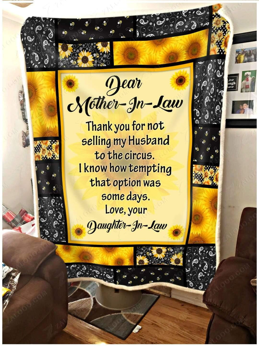 Blanket Dear Motherinlaw I know how tempting