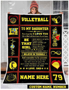 Blanket - Volleyball - To my daughter - Be that girl