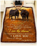 Blanket Black Angus To My Husband Love Your Wife Traci - Zalooo.com Custom Wall Art Canvas