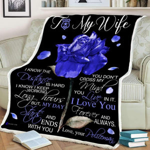 Blanket - Police - To my wife - I know - yenyenstore