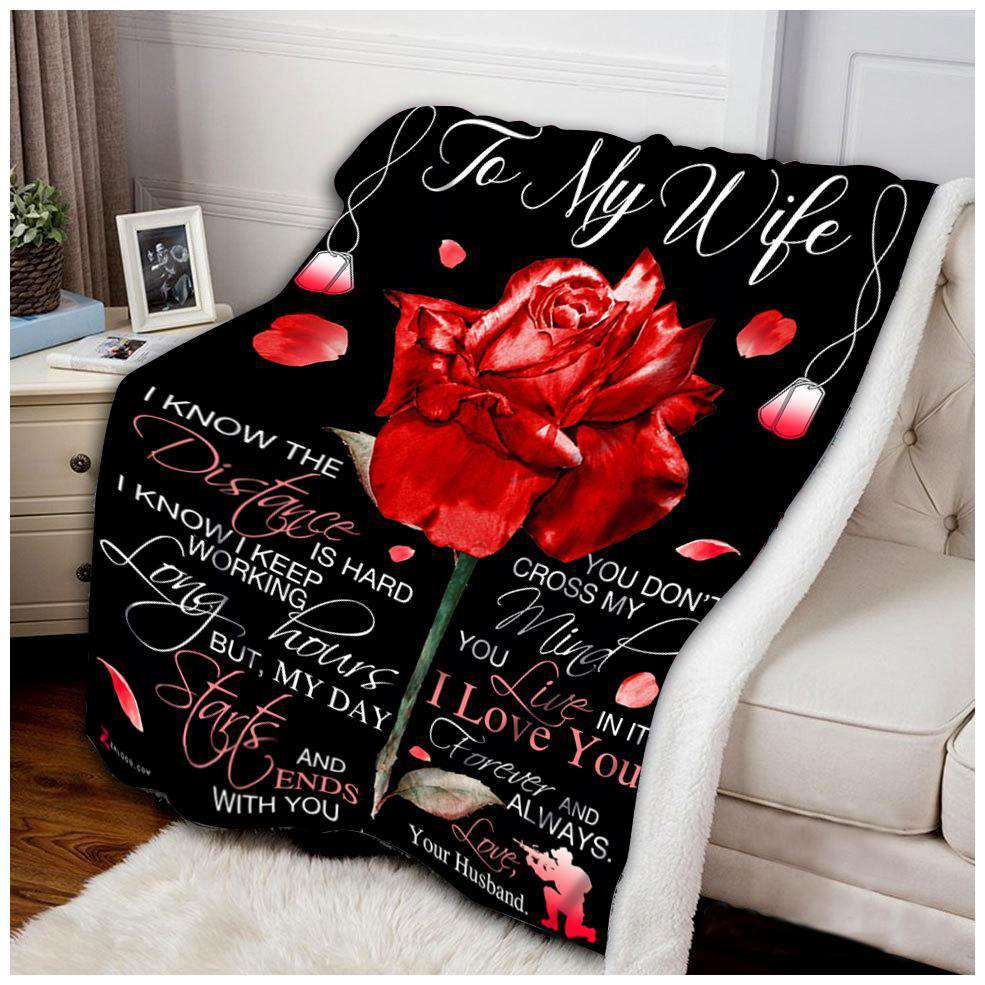 Blanket - Veteran - To My Wife - I know the distance - yenyenstore