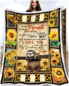 Blanket - Sloth - To My Parents