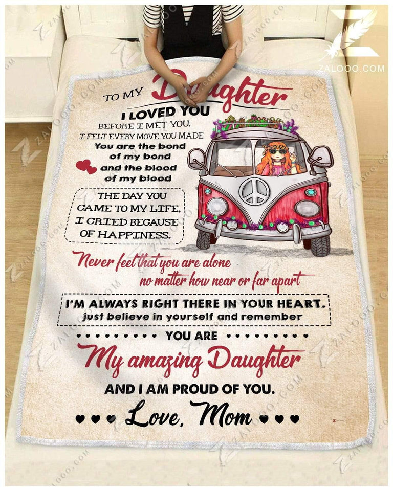 Blanket Hippie To My Daughter I Am Proud Of You - Zalooo.com Custom Wall Art Canvas