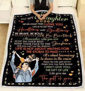 Blanket To my daughter Keep your face to the sunshine