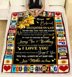 Blanket To my Daughter in law You are my life - Zalooo.com Custom Wall Art Canvas