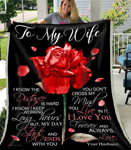 Zalooo Husband To Wife I know the distance blanket