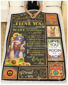 Blanket Hippie Be My Baby Girl Love Mimi - Zalooo.com Custom Wall Art Canvas