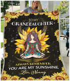 Blanket - Hippie - To My Granddaughter - Love Nonny