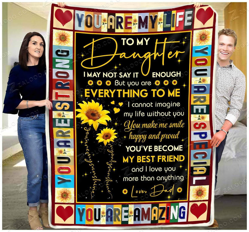 Blanket To my Daughter (Dad) You are special