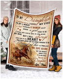 Blanket Horse To My Daughter Proud of the woman - Zalooo.com Custom Wall Art Canvas