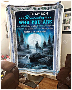 Blanket Wolf To My Son Believe In Yourself - Zalooo.com Custom Wall Art Canvas