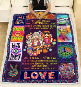Blanket -  To My Daughter In Law - I gave you my amazing son
