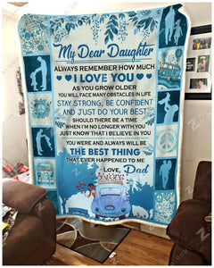 Blanket Hippie The Best Thing Love Dad (daughter) - Zalooo.com Custom Wall Art Canvas