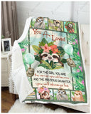 Blanket Sloth For The Girl - Zalooo.com Custom Wall Art Canvas
