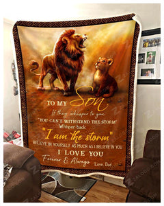 Blanket Lion To My Son I Love You