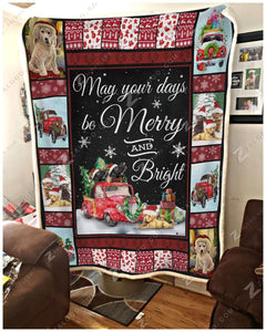 Blanket - Labrador Retriever - May Your Days Be Merry