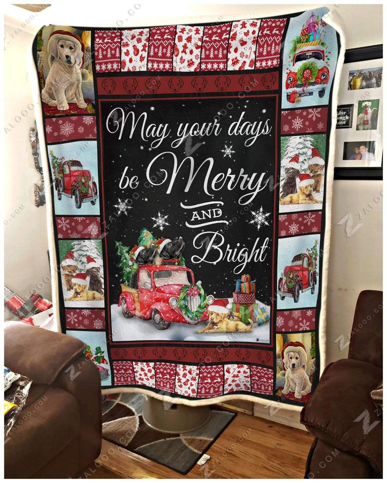 Blanket Labrador Retriever May Your Days Be Merry