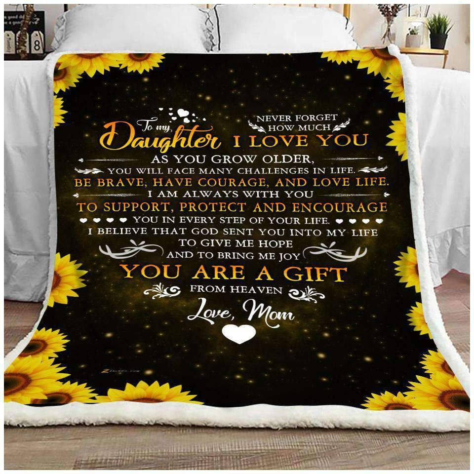 BLANKET - Family - To My Daughter - Never Forget - yenyenstore