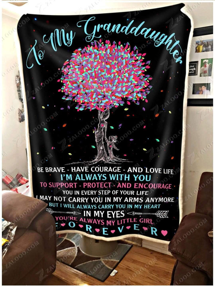 Blanket To My Granddaughter I'm always with you - Zalooo.com Custom Wall Art Canvas