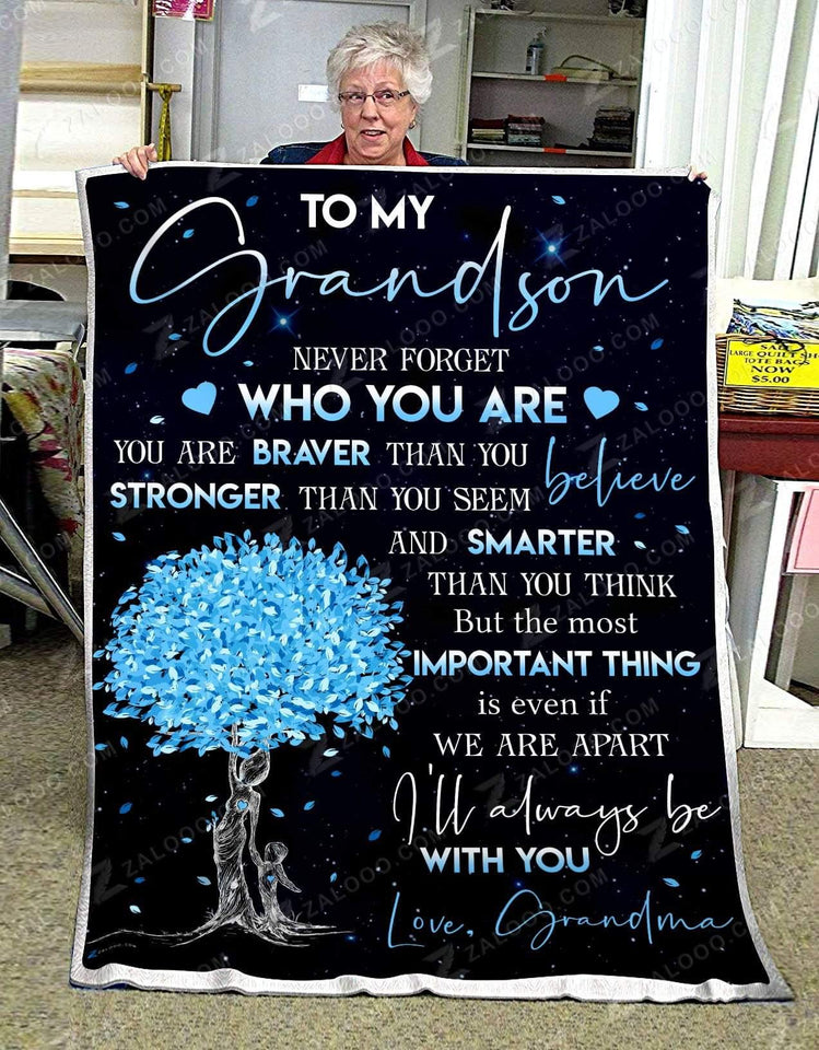 Blanket - To my Grandson - Important thing
