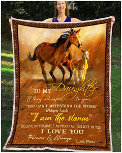 Blanket - Horse - To My Daughter - Love Mom