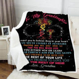 Blanket To my granddaughter You're capable of - Zalooo.com Custom Wall Art Canvas