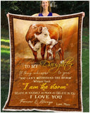 Blanket - Cow - To My Daughter - Love Mom