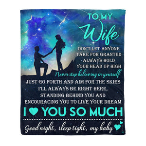 Fleece Blanket - To my wife - I love you so much - yenyenstore