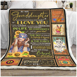 Blanket - Family - To My Granddaughter - Be My Baby Girl