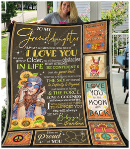 Blanket - Hippie - To My Granddaughter - Be My Baby Girl