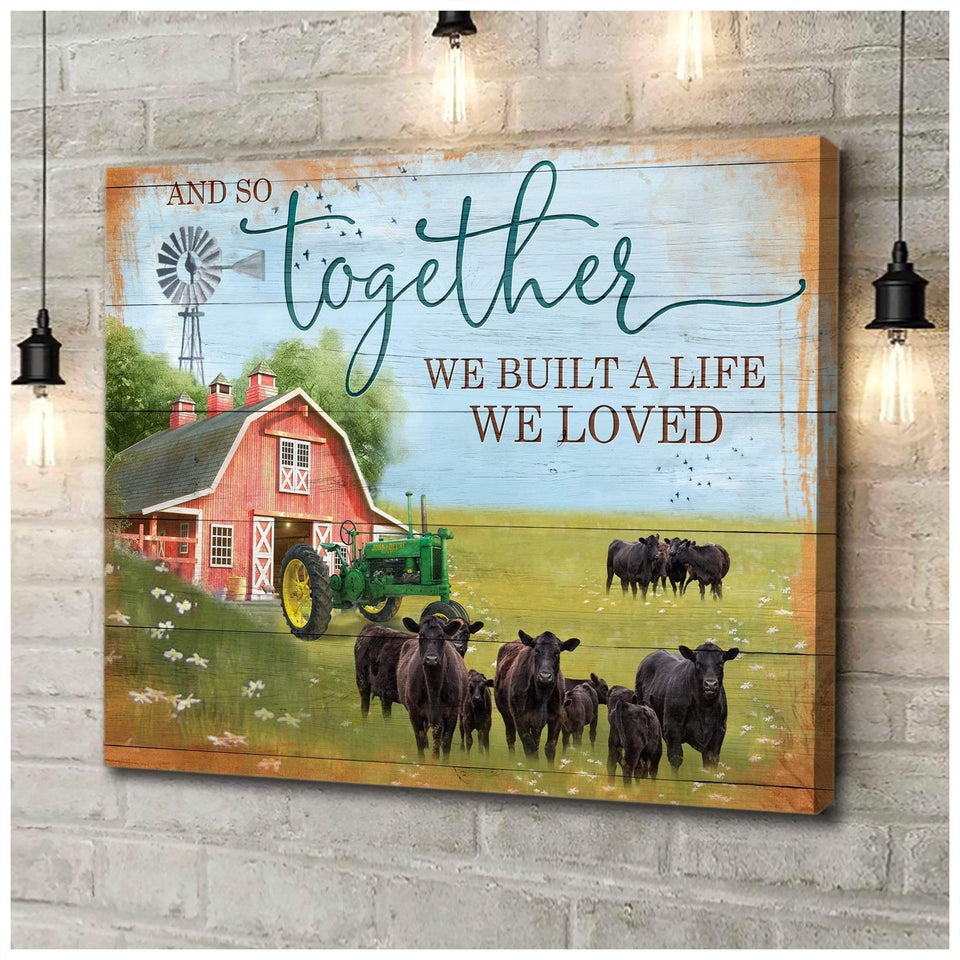 Zalooo And So Together V2 Cow Wall Art Canvas - Zalooo.com Custom Wall Art Canvas