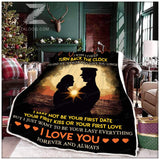 Zalooo - Fleece Blanket - Police - To My Wife - Your Last Everything