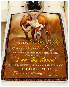 Blanket Cow To My Daughter I Love You