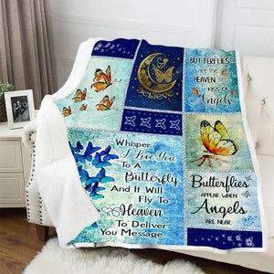 BLANKET - Butterfly - Butterflies Are Heaven Sent Kiss Of Angels - yenyenstore