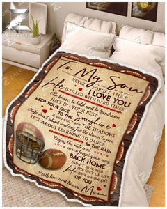Blanket - Football - To my son - Your way back home