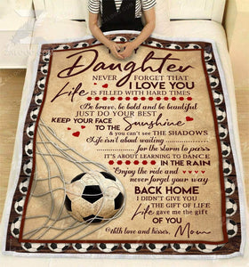 Blanket - Soccer - To my daughter - Your way back home