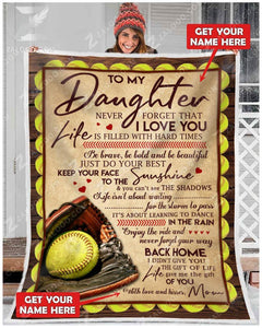 Blanket - Softball - To my daughter - Your way back home