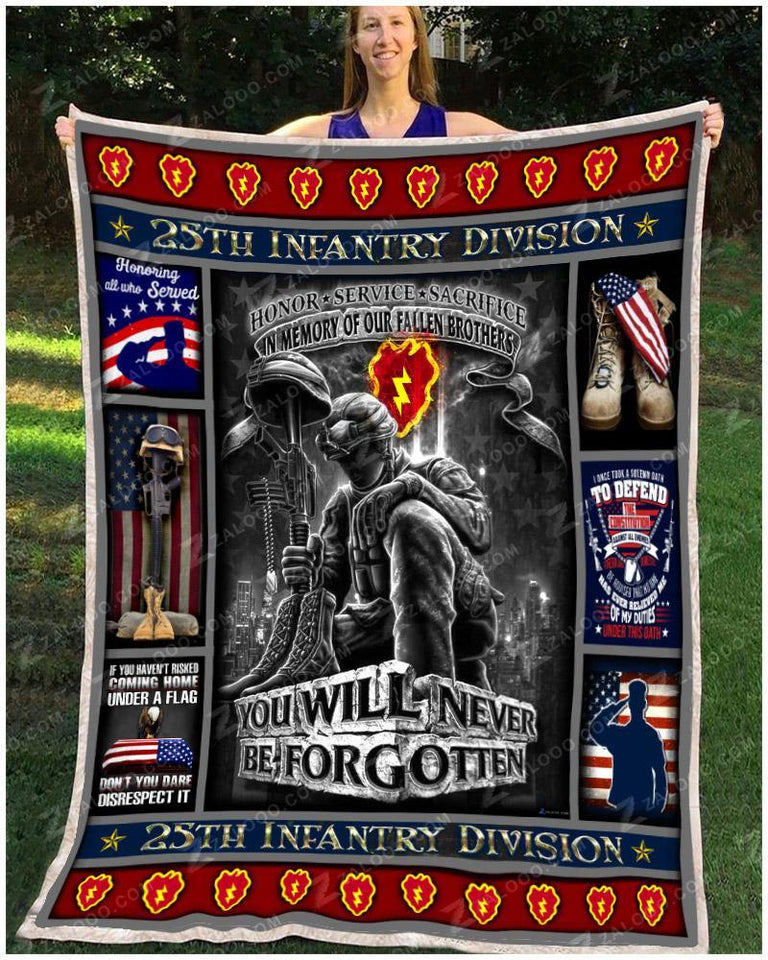 BLANKET 25th Infantry Division You Will Never Be Forgotten