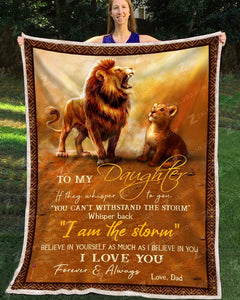 Blanket Lion To My Daughter I Love You - Zalooo.com Custom Wall Art Canvas
