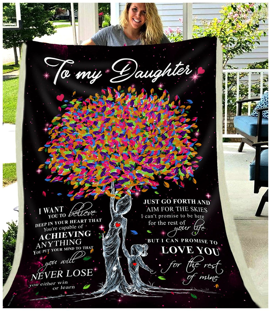 BLANKET - Daughter - Love you for the rest of mine (Mom)