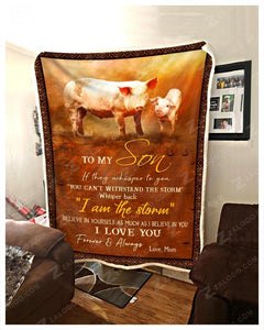Blanket - Pig - To My Son - Love Mom