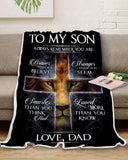Zalooo Always Remember You Are Dad To Son Lion Blanket - Zalooo.com Custom Wall Art Canvas