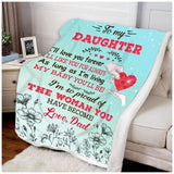BLANKET - Family - To My Daughter - I'll Love You Forever - yenyenstore