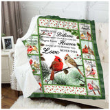 Fleece Blanket - Cardinal - When You Believe - yenyenstore